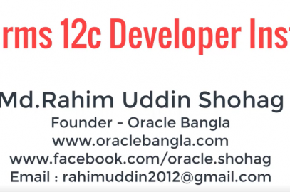 Oracle Bangla is a Free Online DBA and Development Learning